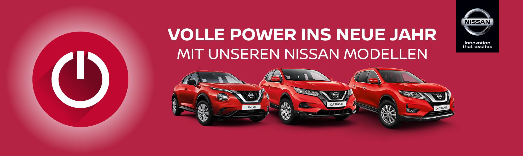 Volle Power ins neue Jahr mit unseren NISSAN-Modellen